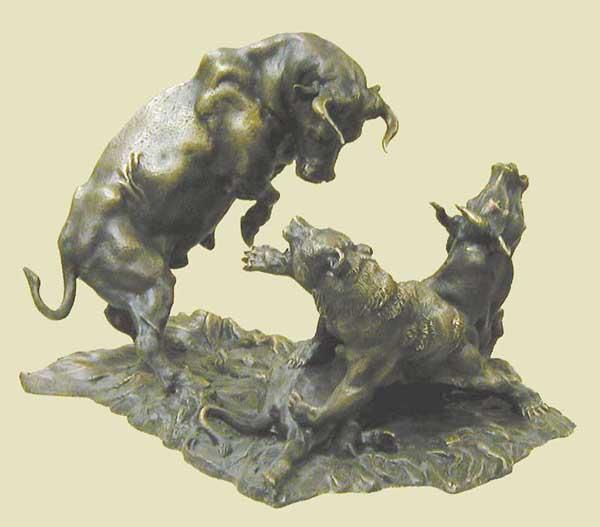 Статуэтки быка и медведя форекс